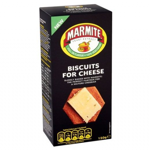 Marmite Biscuits For Cheese Savoury Snacks Dorset Village Bakery 150g